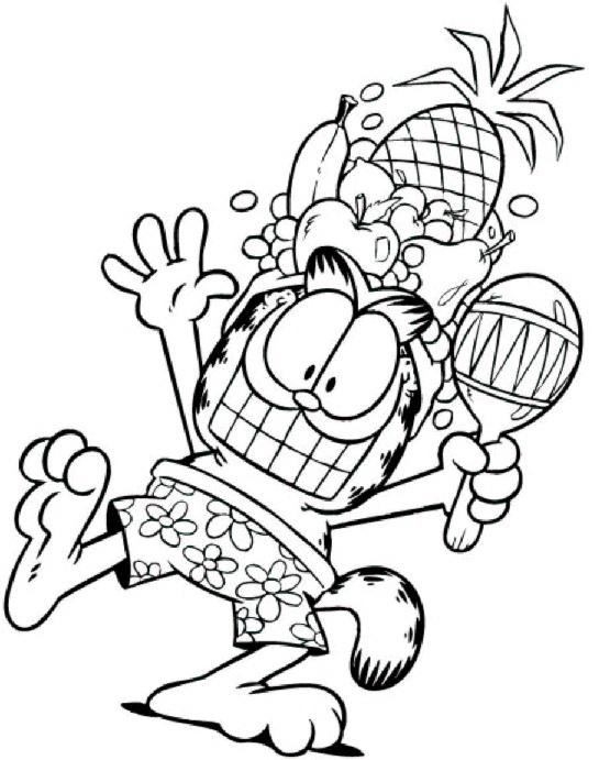 Imagens do Garfield para Colorir
