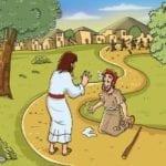 História Bíblica Infantil – Jesus Cura os Dez Leprosos