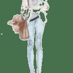 Ilustração de Mulheres Meninas Garotas Fashion PNG 01