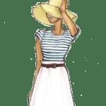 Ilustração de Mulheres Meninas Garotas Fashion PNG 02