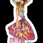 Ilustração de Mulheres Meninas Garotas Fashion PNG 34