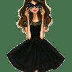 Ilustração de Mulheres Meninas Garotas Fashion PNG 36