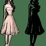 Ilustração de Mulheres Meninas Garotas Fashion PNG 38