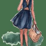 Ilustração de Mulheres Meninas Garotas Fashion PNG 39