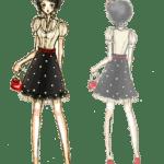Ilustração de Mulheres Meninas Garotas Fashion PNG 47