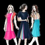 Ilustração de Mulheres Meninas Garotas Fashion PNG 49