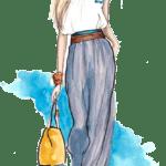 Ilustração de Mulheres Meninas Garotas Fashion PNG 54