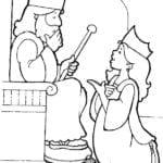 Desenho de A escolha da Rainha Ester para colorir