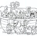 Desenho de Animais da Arca de Noé para colorir