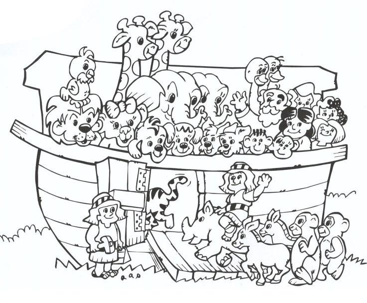Desenho De Animais Da Arca De Noe Para Colorir E Imprimir