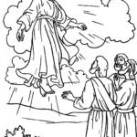 Desenho de Ascensão de Jesus para colorir