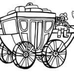 Desenho de Carro do velho oeste para colorir