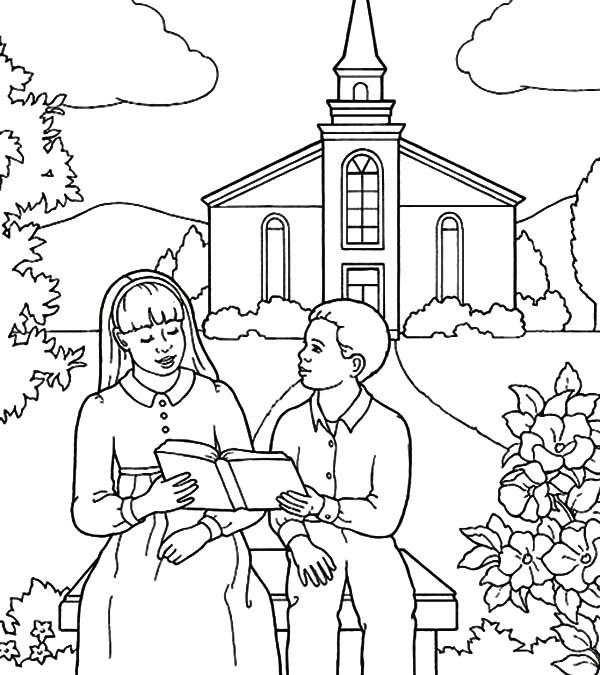 Imagens De Criancas Estudando A Biblia Para Colorir