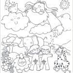 Desenho de dia da criação do mundo para colorir