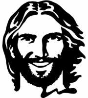 Desenho de Face de Jesus sorrindo para colorir