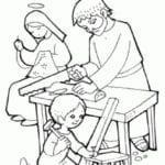Desenho de Família de Jesus para colorir