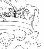 Desenho de História da Arca de Noé para colorir