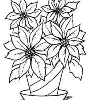 Imagens de vasos de flores para colorir e imprimir