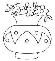 219 melhores imagens de Vasos de flores para colorir