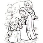 Desenho de Infância de Jesus para colorir