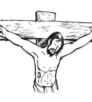 Desenho de Jesus crucificado para colorir