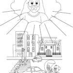 Desenho de Jesus luz do mundo para colorir