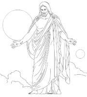 Desenho de Jesus meu herói para colorir
