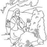 Desenho de Jesus orando no horto para colorir