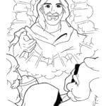 Desenho de Jesus ressuscitado para colorir