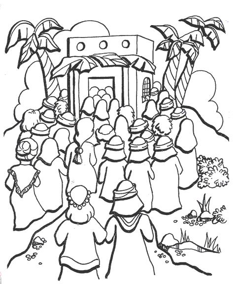 Desenho de Jesus salvando paralítico para colorir