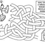 Desenho de Jogo do Labirinto Turma da Monica para colorir