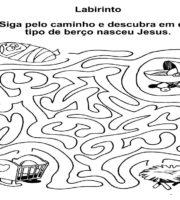 Desenho de Labirinto de Adão e Eva para colorir