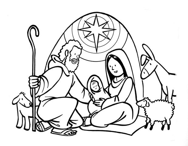 Desenho De Nascimento De Jesus Para Colorir E Imprimir