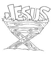Desenho de Nome Jesus para colorir