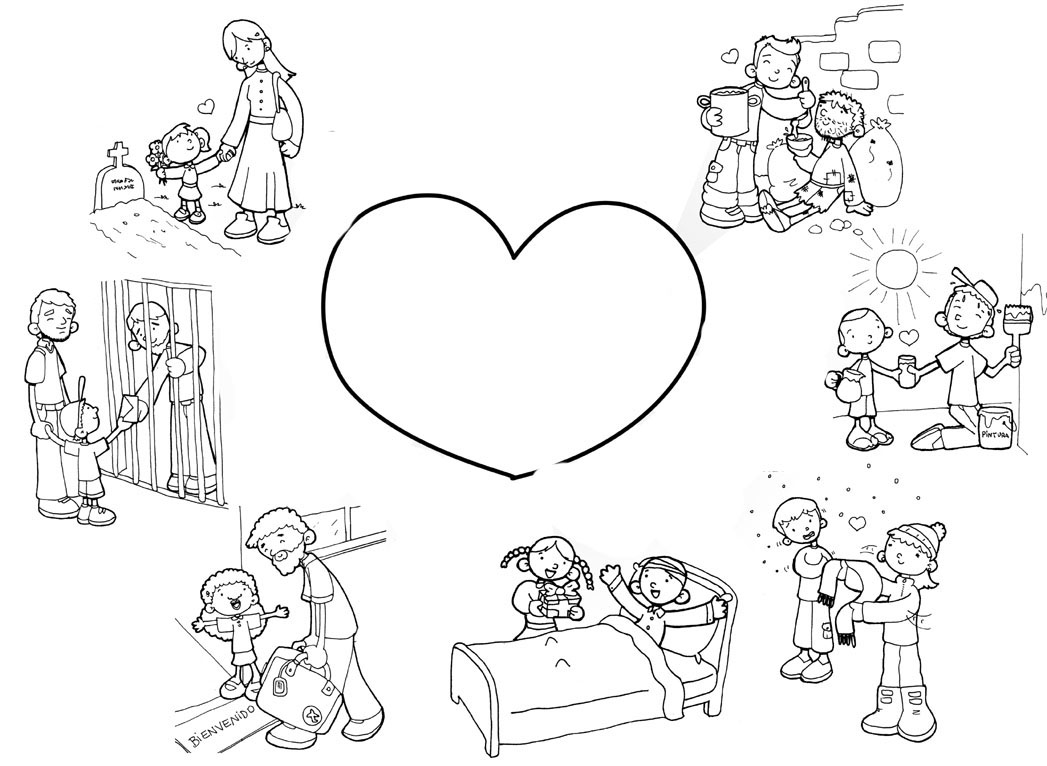 Desenho de Obras de misericórdia para colorir