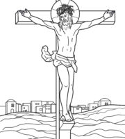 Desenho de Paixão e morte de Cristo para colorir