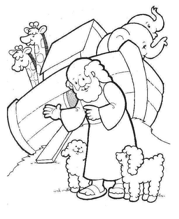 Desenho de Passagem bíblica da Arca de Noé para colorir