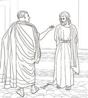 Desenho de Pôncio Pilatos para colorir