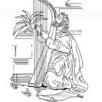 Desenho de Rei Davi para colorir