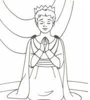 Imagens de Rei Davi Orando para colorir