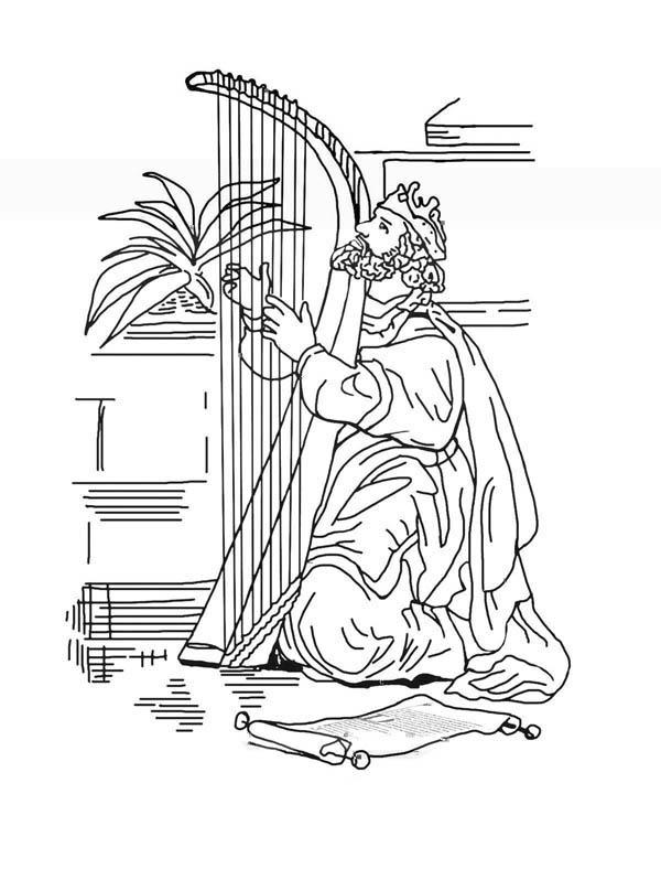 Desenho De Rei Davi Para Colorir Desenhos Para Pintar