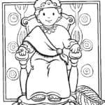 Desenho De Rei Salomao Para Colorir E Imprimir