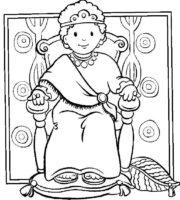Desenho de Rei Josias para colorir