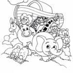 Desenho de Relato bíblico da Arca de Noé para colorir