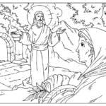 Desenho de Ressurreição de Jesus para colorir