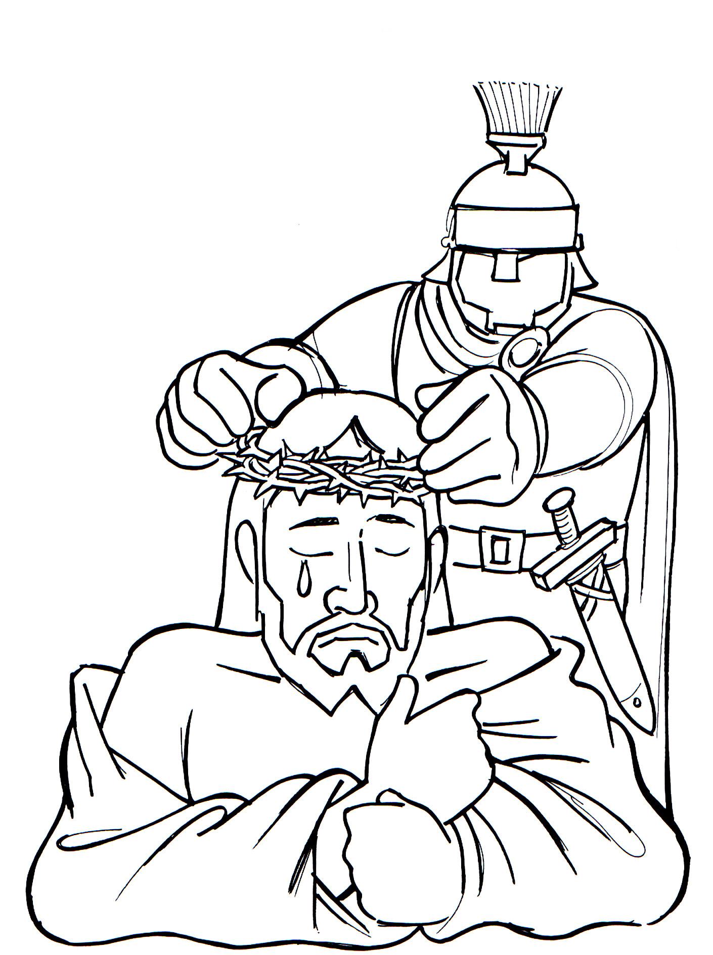 Imagens De Rosto De Jesus Com A Coroa De Espinhos Para Colorir