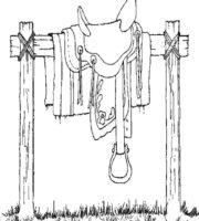 Desenho de Sela do cavalo para colorir