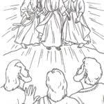 Desenho de Transfiguração de Jesus para colorir