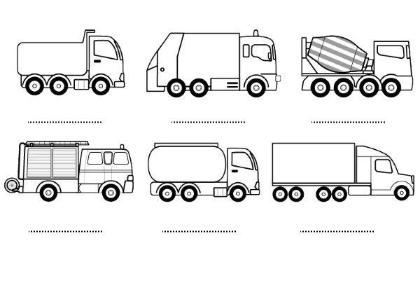 Imagens De Meios De Transporte Para Colorir E Imprimir