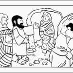 Desenhos para Colorir – A Ressurreição de Lázaro